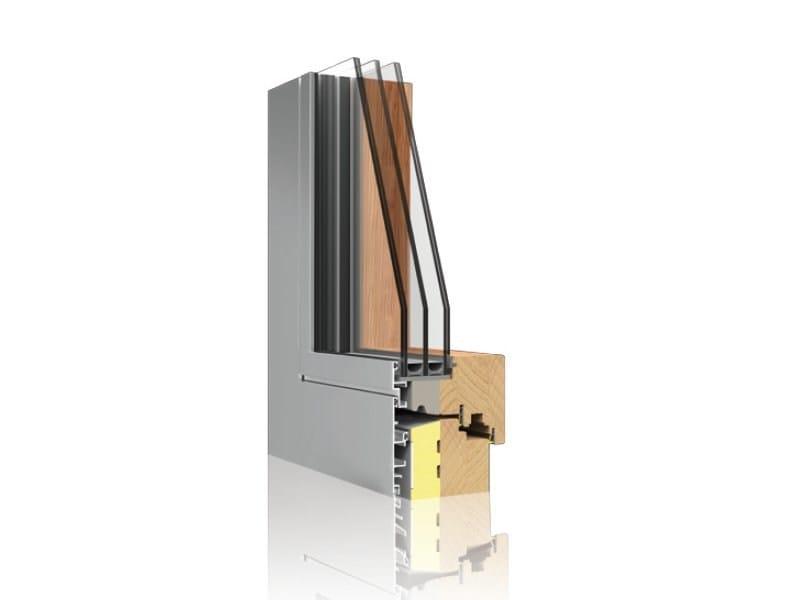 Aluminium-wooden window TERMOSCUDO - UNIFORM
