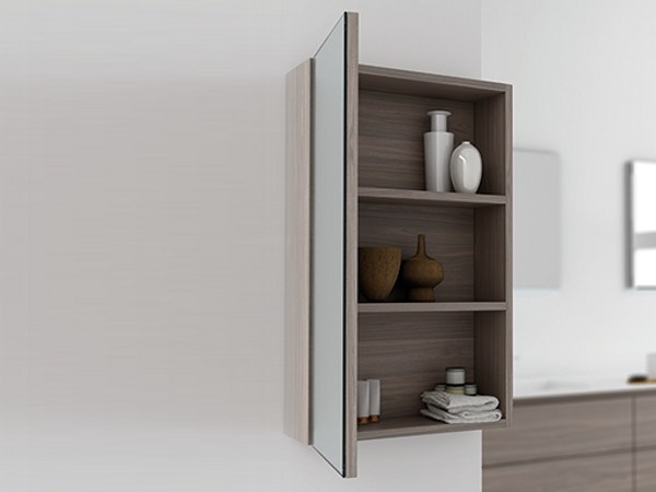 Wall-mounted mirror with cabinet STRATO | Mirror with cabinet - INBANI