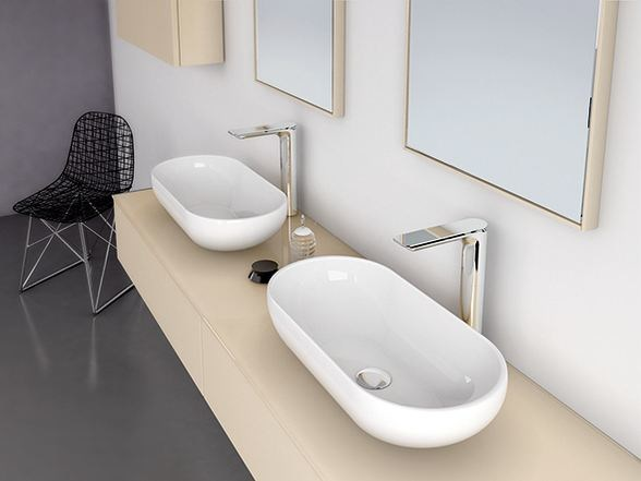 Countertop oval washbasin STRATO | Countertop washbasin - INBANI