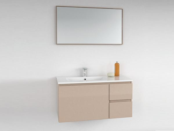 Lacquered vanity unit with drawers STRATO | Vanity unit with drawers - INBANI
