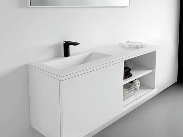 Lacquered vanity unit with doors STRATO | Vanity unit - INBANI