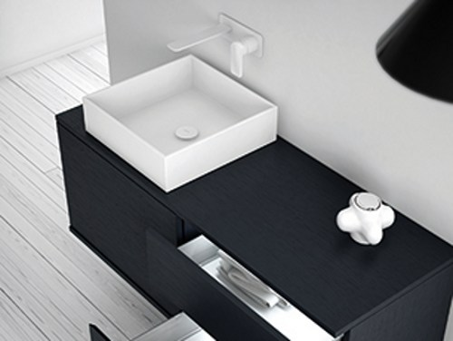 Countertop Solid Surface® washbasin STRATO | Countertop washbasin - INBANI