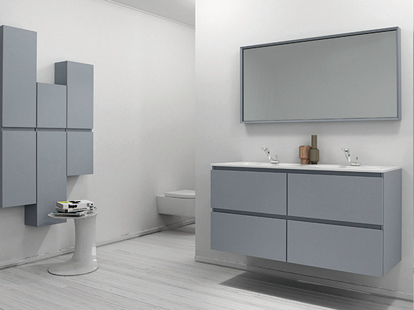 Lacquered vanity unit with drawers STRATO | Lacquered vanity unit - INBANI