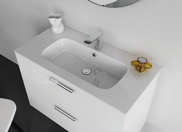 Undermount Mineralmarmo® washbasin STRATO | Undermount washbasin - INBANI