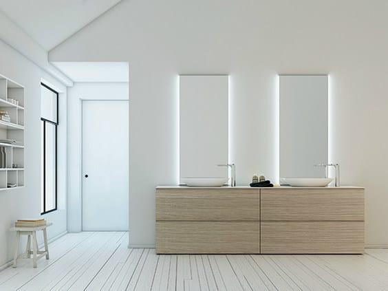 Vanity unit with drawers STRATO | Vanity unit - INBANI