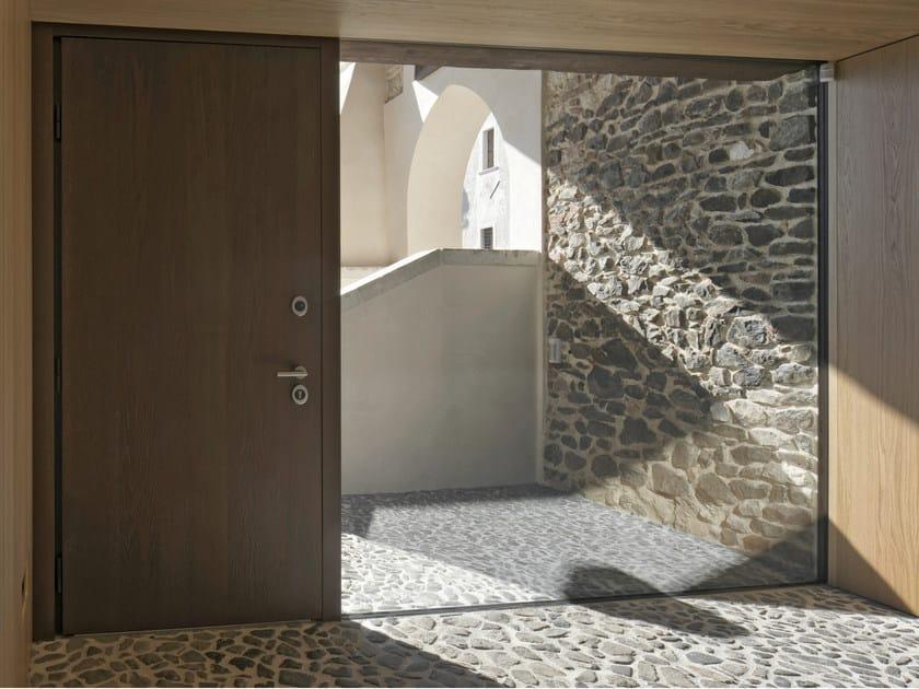 Porta d 39 ingresso blindata in legno e vetro elite - Maniglia porta ingresso ...