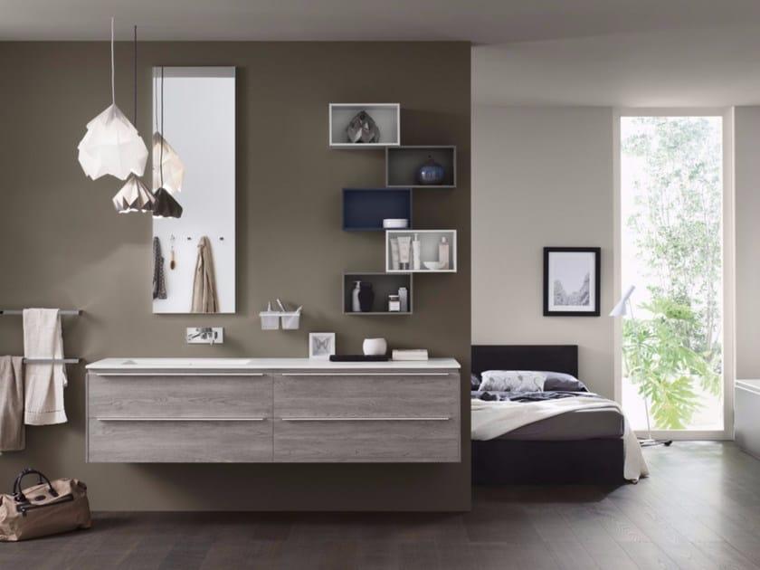 Bathroom cabinet / vanity unit PROGETTO+ - Composition 1 by INDA®