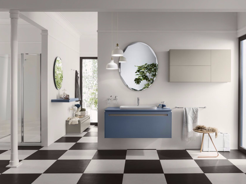 Bathroom cabinet / vanity unit PROGETTO+ - Composition 3 by INDA®