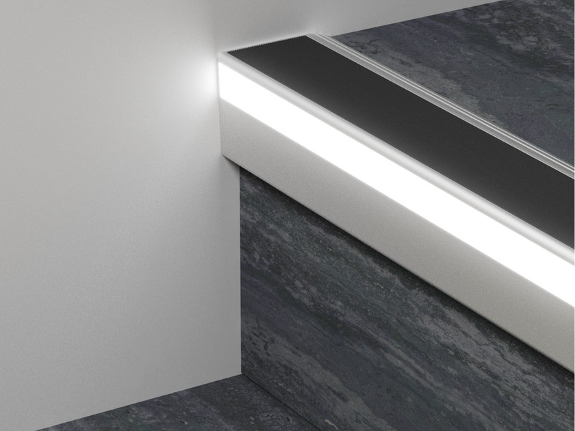 LED aluminium Step nosing PROLIGHT PROTECT LED 126/L/F - PROFILPAS