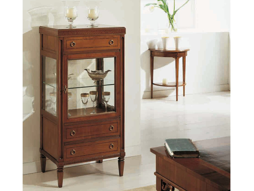 Solid wood display cabinet PUCCINI - Arvestyle