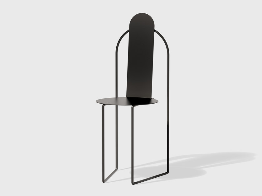 Powder coated steel chair PUDICA | Powder coated steel chair by Matter Made