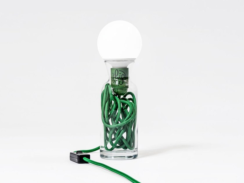 Direct light glass table lamp PULSE GREEN - bigdesign
