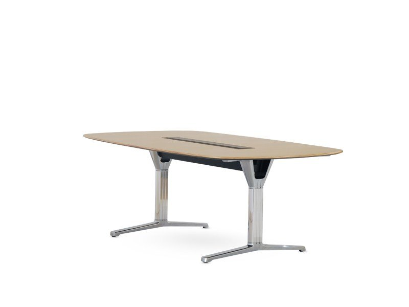 Modular meeting table with cable management PULSE | Modular meeting table - Wiesner-Hager