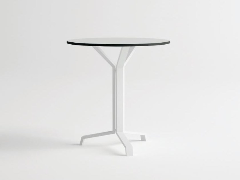 Round aluminium garden table PULVIS 3 | Round table by 10Deka