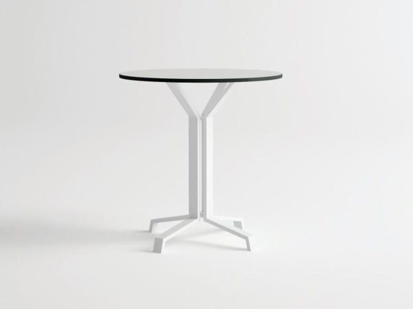 Tavolo da giardino rotondo in alluminio PULVIS 4 | Tavolo rotondo - 10Deka