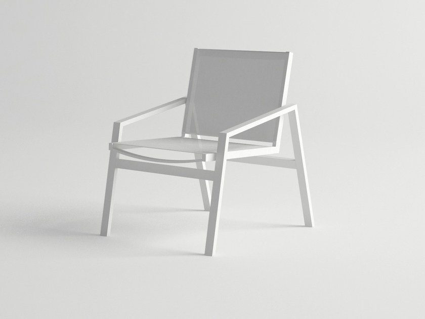 Aluminium garden chair with armrests PULVIS | Chair with armrests - 10Deka