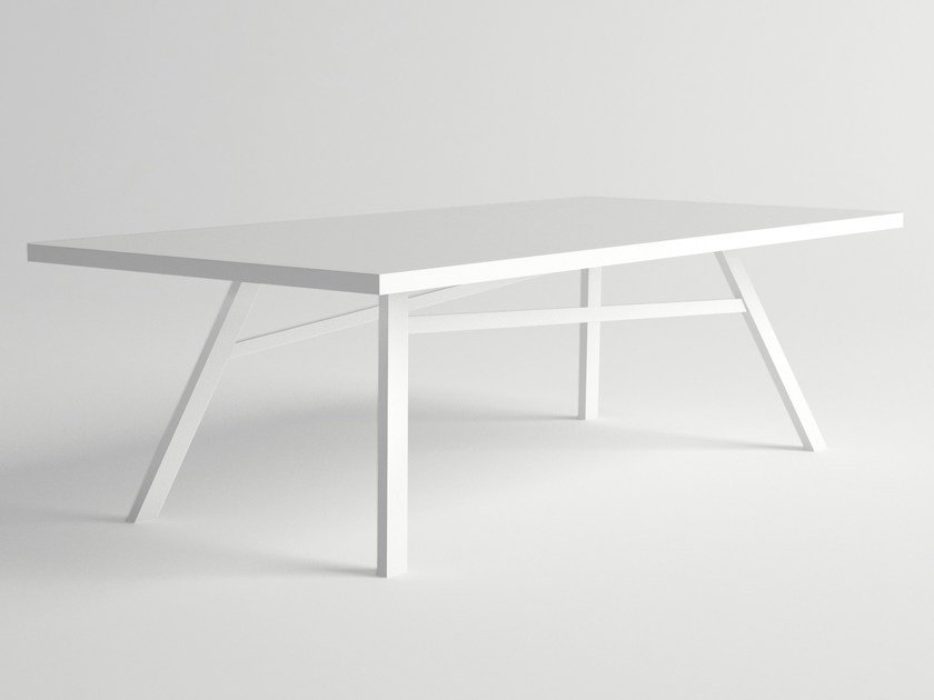 Rectangular aluminium garden table PULVIS | Rectangular table - 10Deka