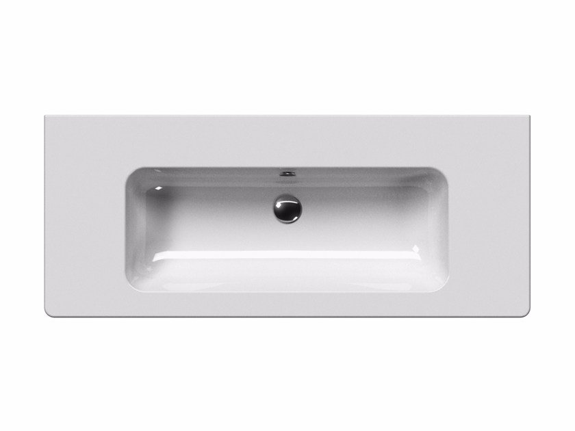 Washbasin with overflow PURA 120 | Washbasin by GSI ceramica
