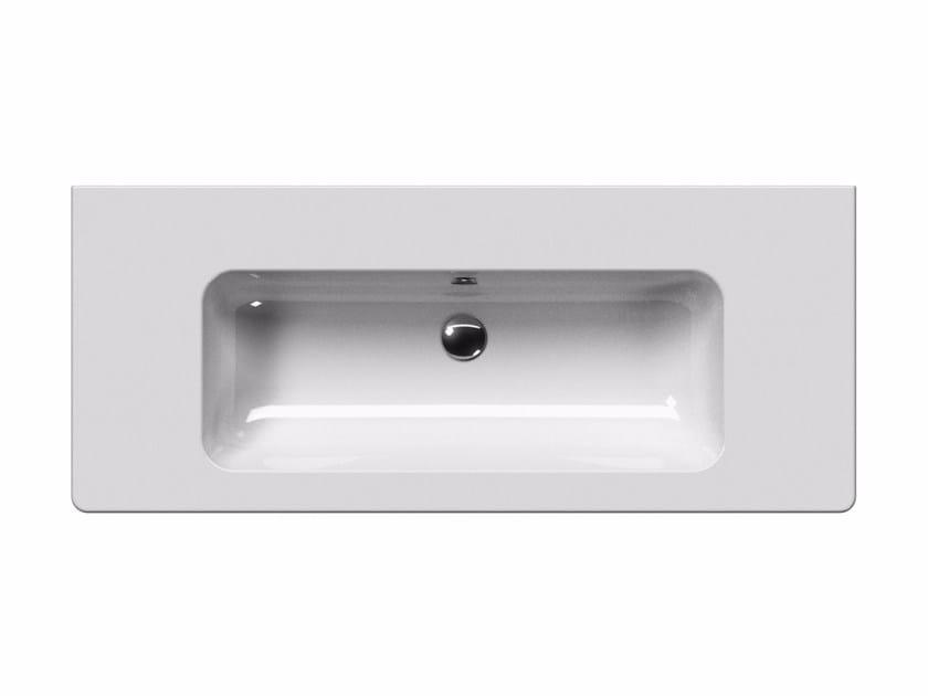 Washbasin with overflow PURA 120 | Washbasin - GSI ceramica