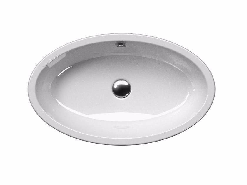 Countertop oval washbasin PURA 70/T | Countertop washbasin - GSI ceramica