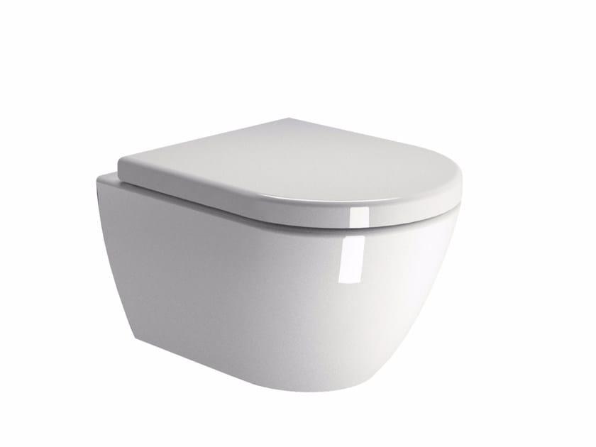 Wall-hung ceramic toilet PURA 50 | Wall-hung toilet - GSI ceramica