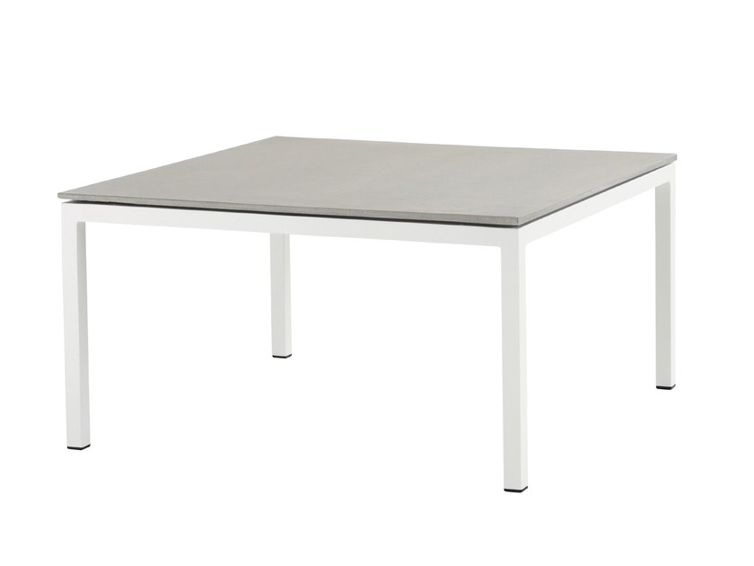 Square aluminium coffee table PURE ALU | Garden side table - solpuri