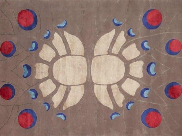 Contemporary style handmade rectangular rug PUTALI - Deirdre Dyson