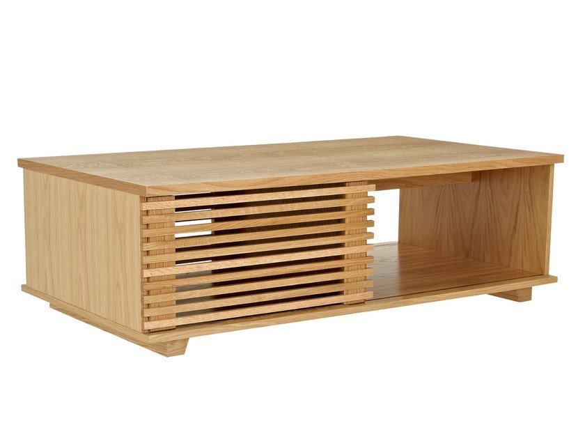 Rectangular wooden coffee table with storage space PUTNEY | Coffee table by Woodman