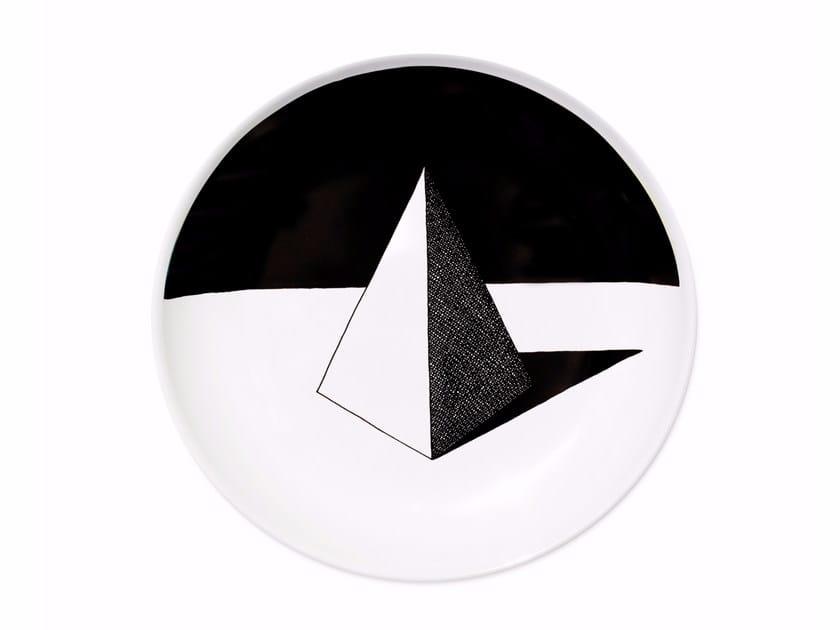 Ceramic dinner plate PYRAMID by Kiasmo