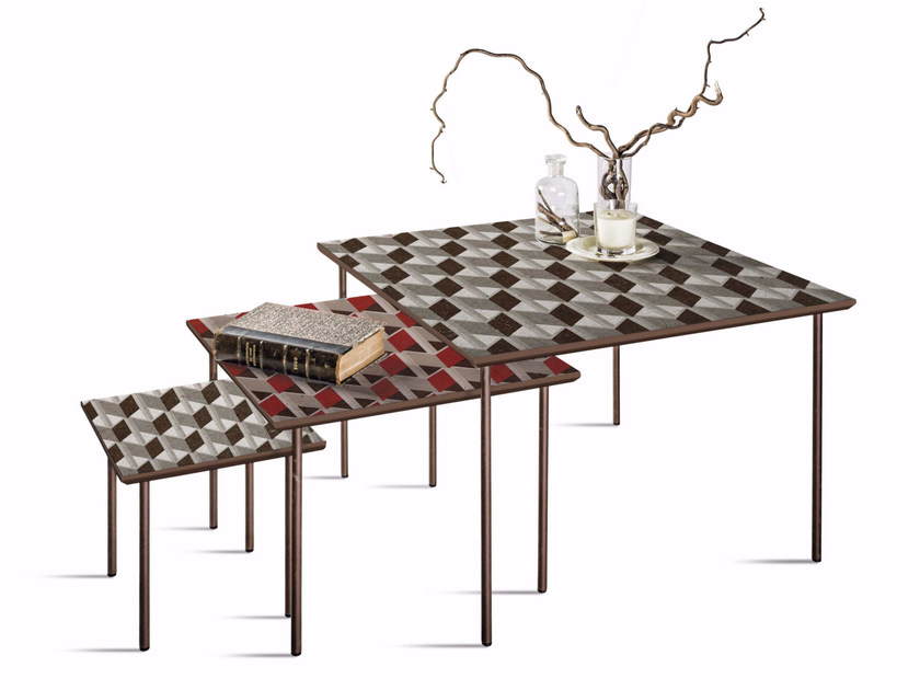 Square MDF coffee table Q-32/52/72 - MOMENTI di Bagnai Matteo
