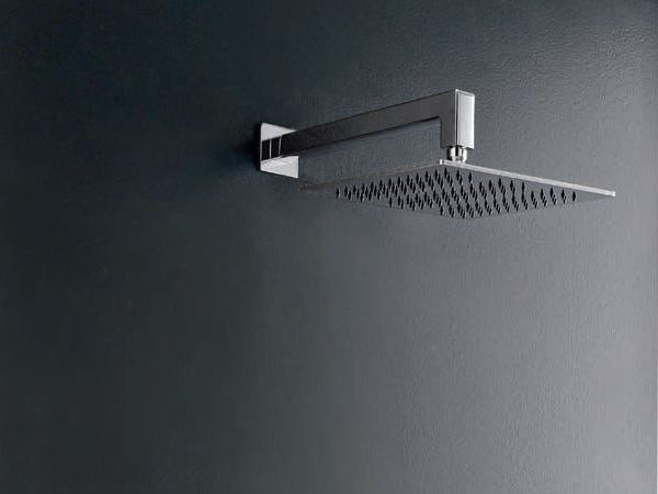 Wall-mounted chrome-plated adjustable overhead shower QQUADRO by ZAZZERI