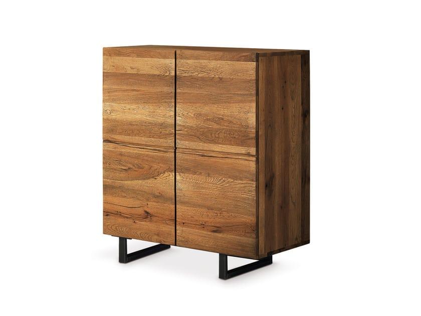 Oak highboard with doors QUADRA | Highboard with doors - Oliver B.