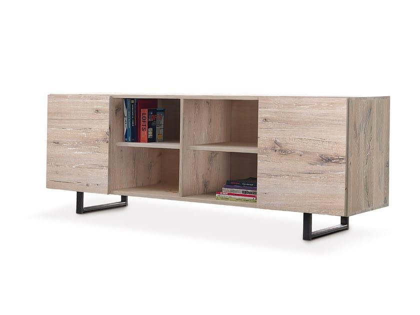 Oak sideboard with doors QUADRA | Sideboard - Oliver B.