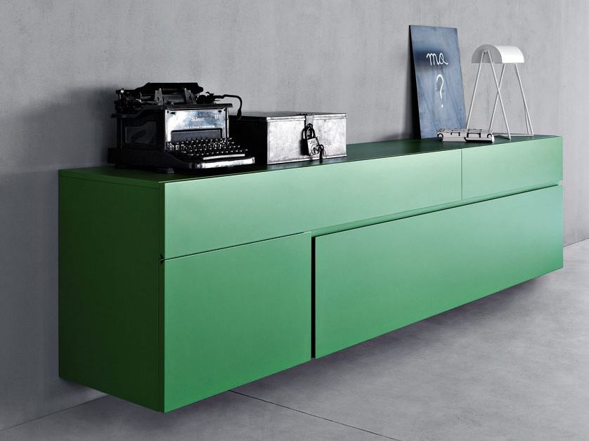 Lacquered sideboard QUADRA | Sideboard - PIANCA