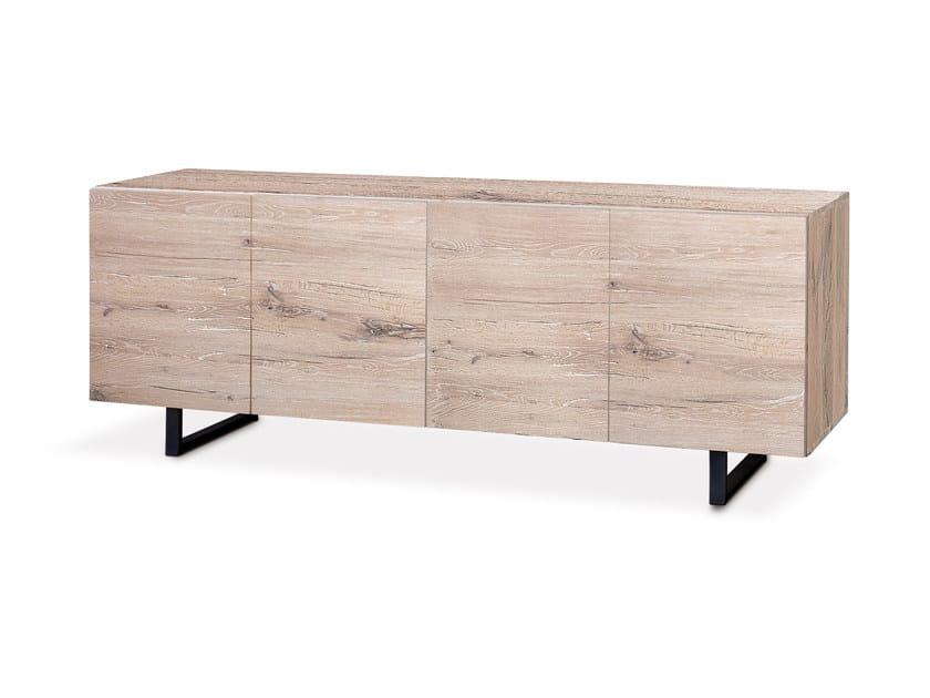 Oak sideboard with doors QUADRA | Sideboard with doors - Oliver B.