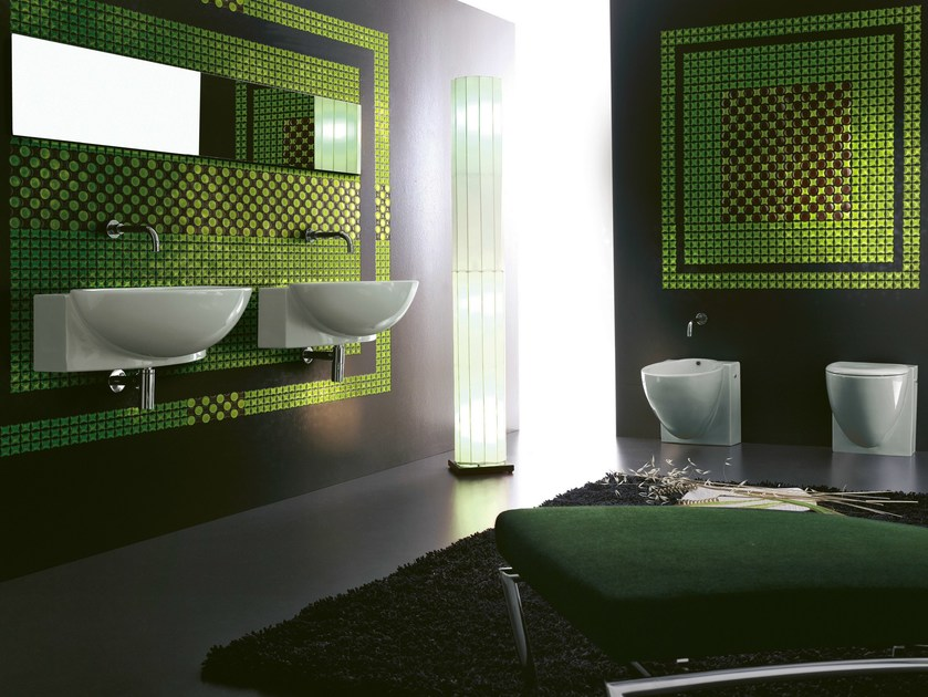 Glass mosaic QUADRA by VETROVIVO