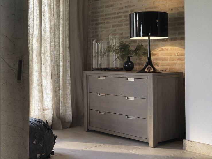 Solid wood dresser QUADRA | Dresser - Devina Nais