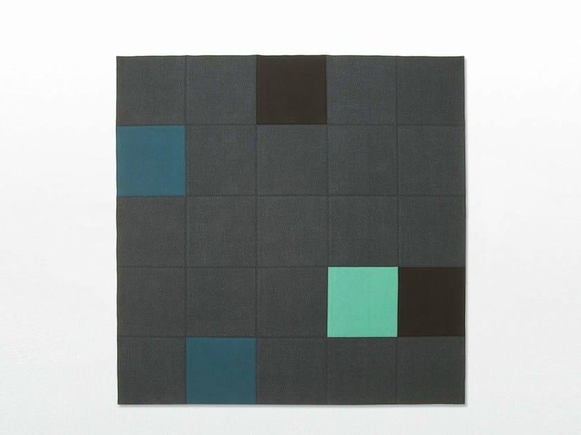 Custom felt rug QUADRI DOUBLE - Paola Lenti
