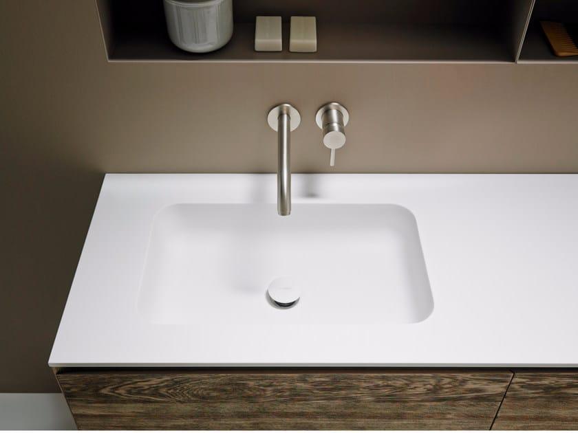 Corian® washbasin countertop QUADRO 55 - INBANI