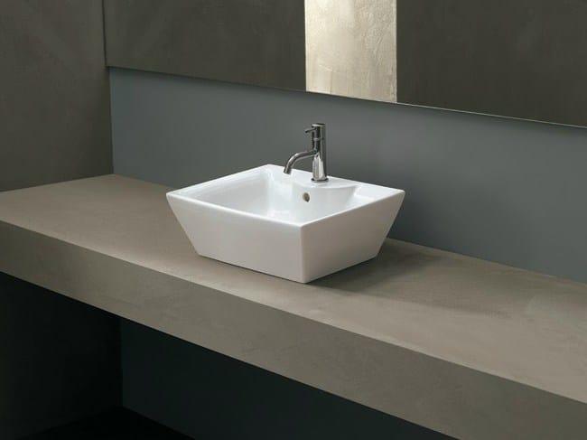 Countertop ceramic washbasin QUADRO PLUS - Alice Ceramica