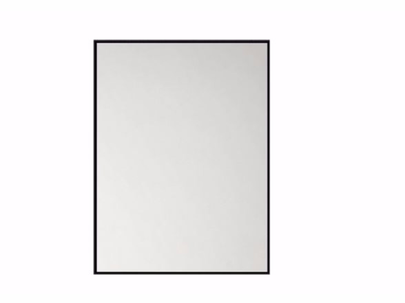 Rectangular wall-mounted bathroom mirror QUALITIME BLACK   Mirror - Ethnicraft