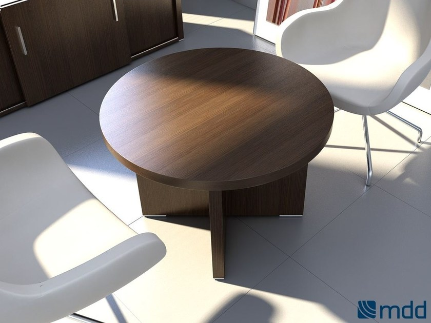Round wooden meeting table QUANDO | Round meeting table by MDD