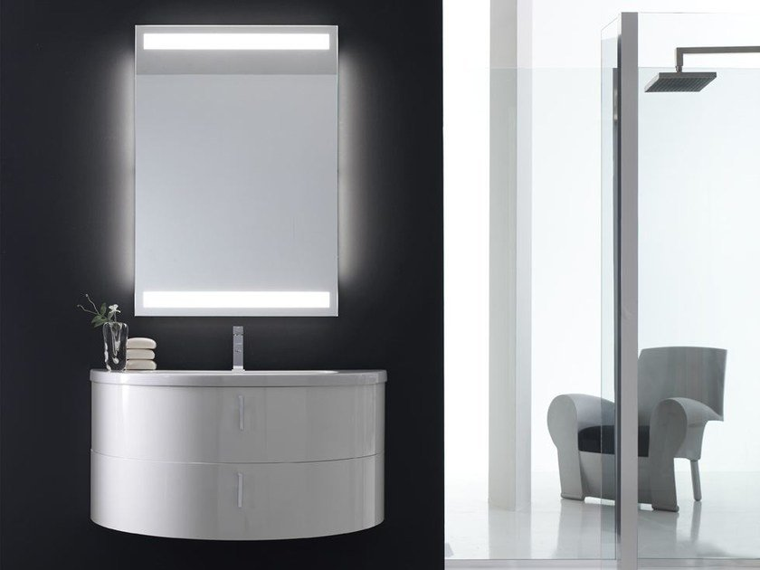 Lacquered single vanity unit QUANTUM - COMPOSITION 2 - Arcom