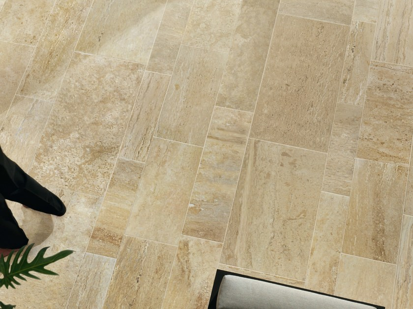 Porcelain stoneware wall/floor tiles with stone effect QUARRY BEIGE by ASTOR CERAMICHE