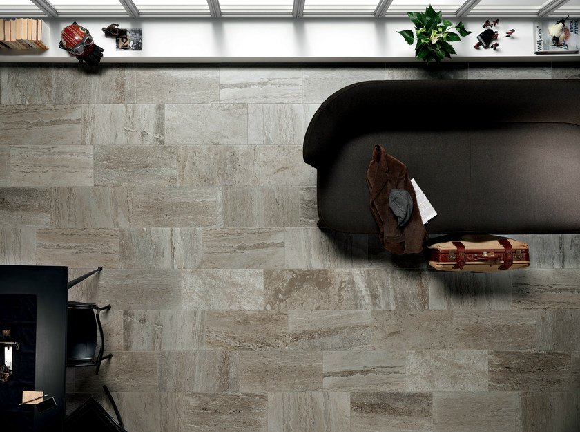 Porcelain stoneware wall/floor tiles with stone effect QUARRY GREY - ASTOR CERAMICHE