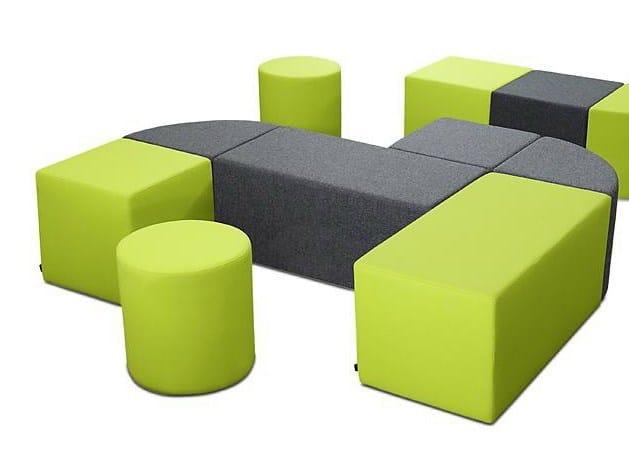 Modular bench QUARTER - SMV Sitz- und Objektmöbel