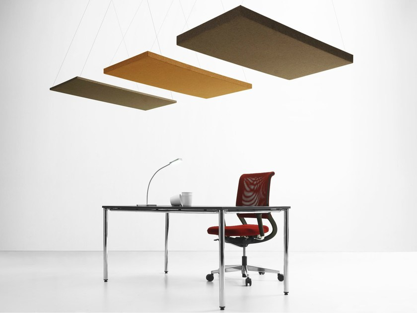 Felt acoustic ceiling clouds QUARTETTO | Acoustic ceiling clouds - LvB Acoustics