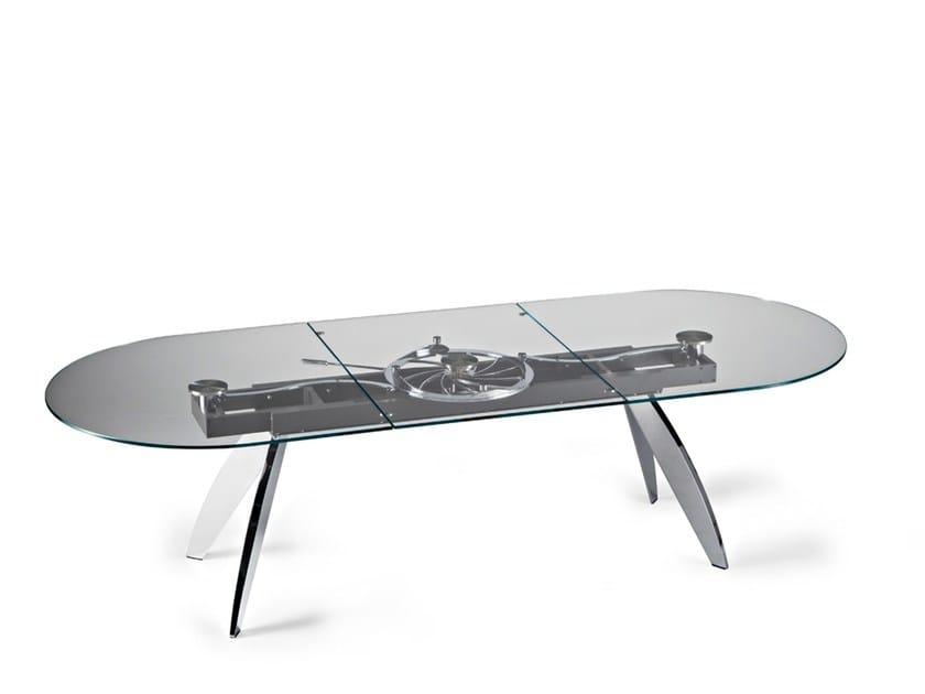 Quasar tavolo ovale by naos design studio d 39 urbino lomazzi for Tavolo da pranzo ovale allungabile