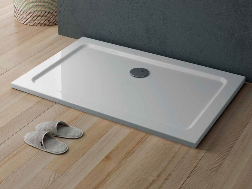 Rectangular acrylic shower tray QUICKR | Rectangular shower tray by Glass1989