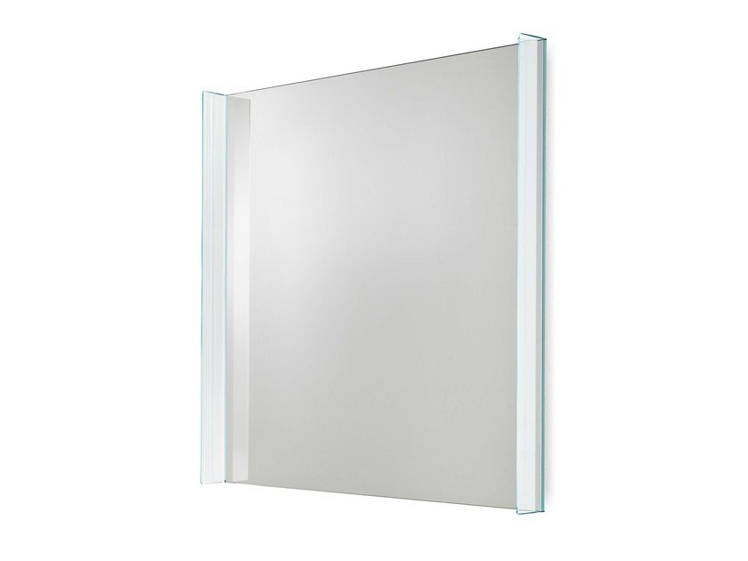 Square wall-mounted mirror QUILLER | Square mirror by Tonelli Design